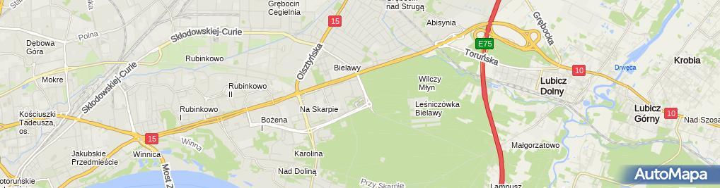 Zdjęcie satelitarne Jeziórska Teresa Firma Usługowa