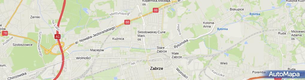 Zdjęcie satelitarne Joachim Kolenda Przewóz Osobowy.Produkcja i Sprzedaż Żuru.