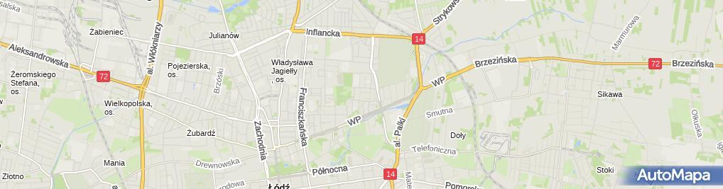 Zdjęcie satelitarne Joanna Usługi Kosmetyczne Joanna Godzina