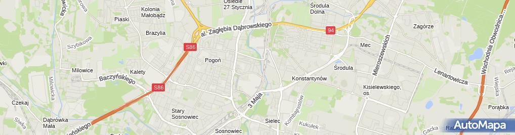 Zdjęcie satelitarne Jolanta Kalmuk Handel Obwoźny Hurt-Detal