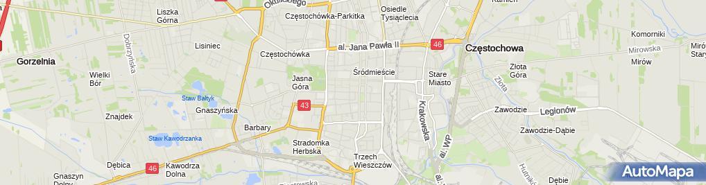 Zdjęcie satelitarne Jolanta Szymczakiewicz Doradca Podatkowy nr 04776