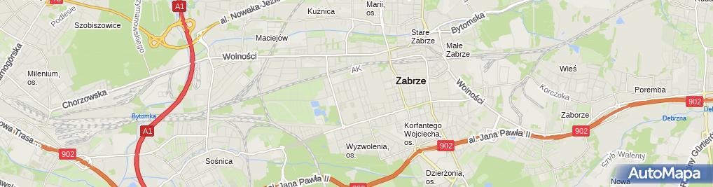Zdjęcie satelitarne Justyna Goleń - Działalność Gospodarcza