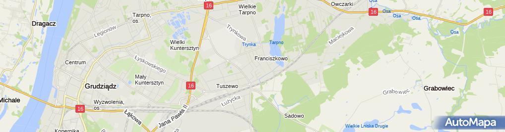 Zdjęcie satelitarne Justyna Karczyńska Handel Obwoźny