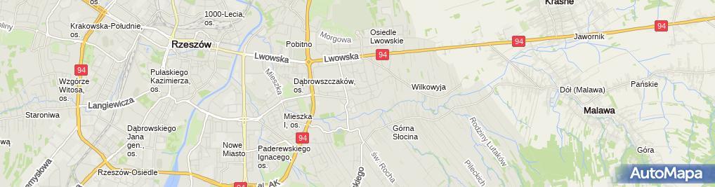 Zdjęcie satelitarne JW Waligóra
