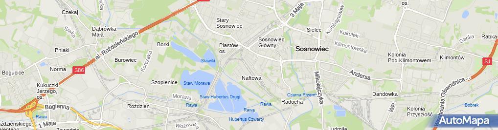 Zdjęcie satelitarne K&F Trans Kozera Paweł Fidyk Robert