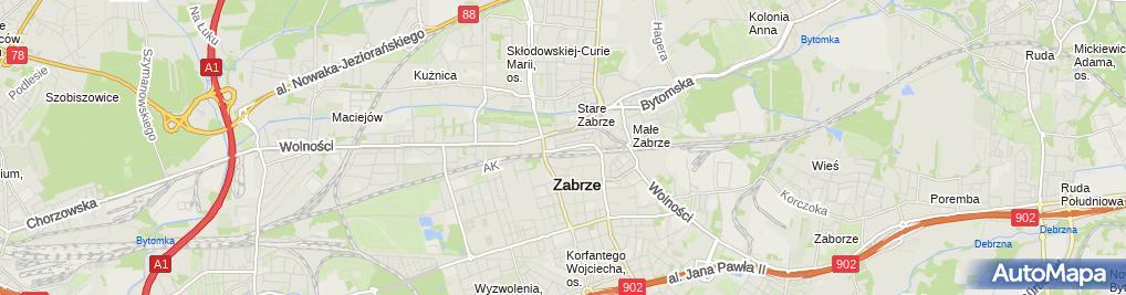 Zdjęcie satelitarne Kaliber 92 Windys Jan Kołakowski Jan
