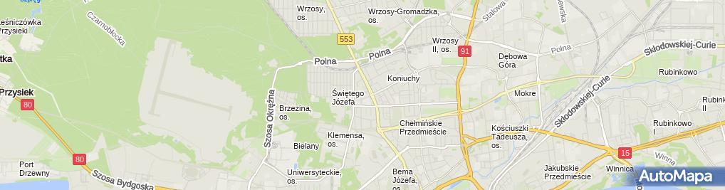 Zdjęcie satelitarne Kamień Kamila Morawiak