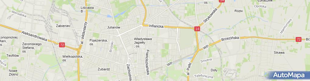 Zdjęcie satelitarne Kancelaria Biegłego Rewidenta