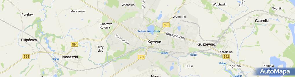Zdjęcie satelitarne Kancelaria Finansowo Ubezpieczeniowa Andrzej Łazicki Walenty Żardzin