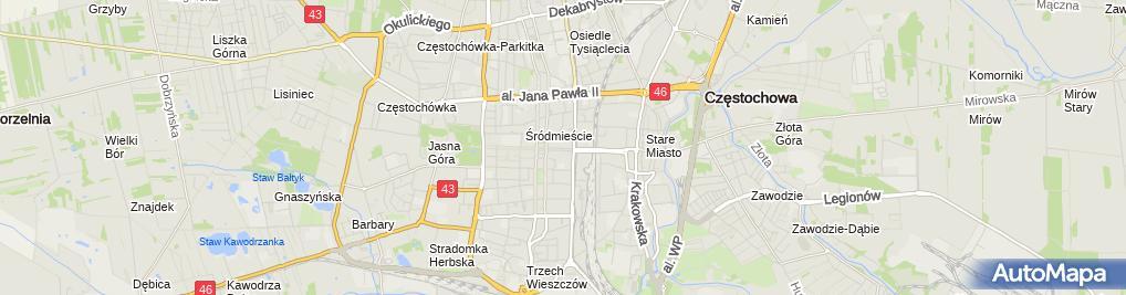 Zdjęcie satelitarne Kancelaria Prawnicza Radca Prawny Anna Gapik Lis