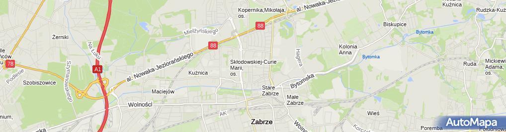 Zdjęcie satelitarne Kardio Med Silesia