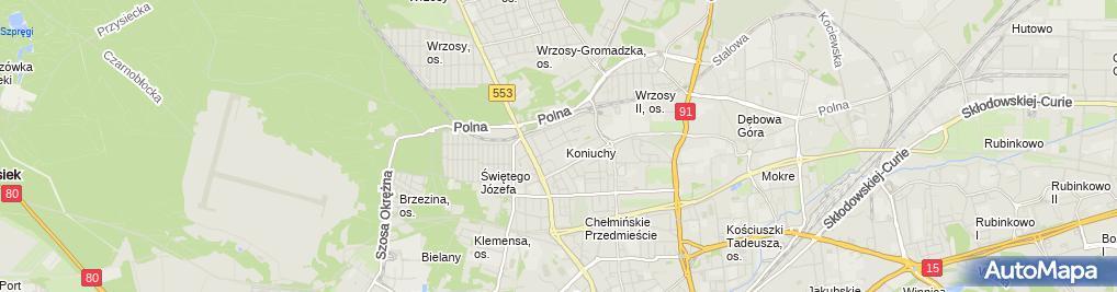 Zdjęcie satelitarne Karta Przetargowa Kancelaria Prawna Grzegorz Rogalewicz