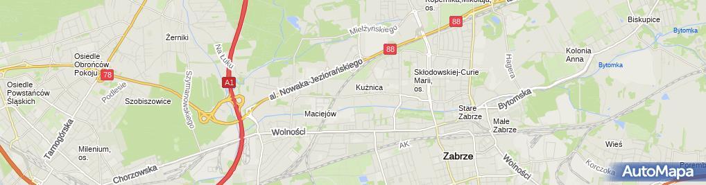 Zdjęcie satelitarne Katarzyna Makucewicz - Działalność Gospodarcza