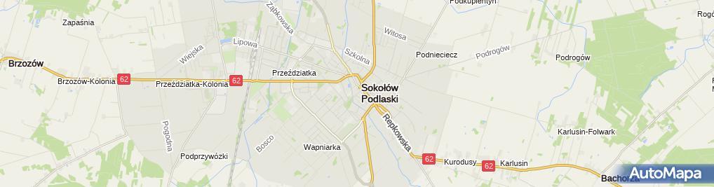 Zdjęcie satelitarne Katarzyna Nowak - Działalność Gospodarcza