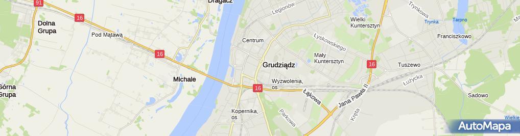 Zdjęcie satelitarne Katarzyna Sosnowska - Działalność Gospodarcza