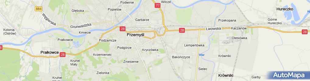 Zdjęcie satelitarne Kazimierz Skoczylas Mała Poligrafia