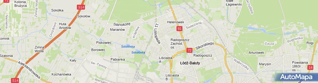 Zdjęcie satelitarne Kęsik Izabela Słobodzian Aldona Kowalczyk
