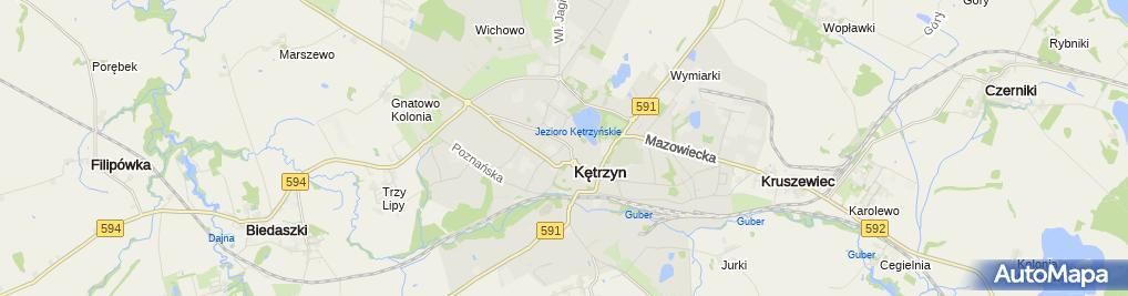 Zdjęcie satelitarne Kętrzyńska Izba Gospodarcza