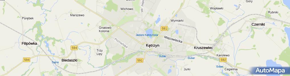 Zdjęcie satelitarne Kętrzyńskie Centrum Kultury