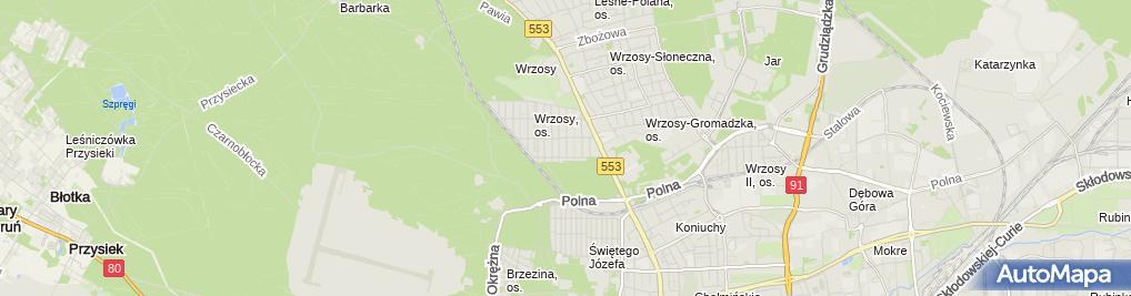 Zdjęcie satelitarne Kiosk Handlowy Mazar