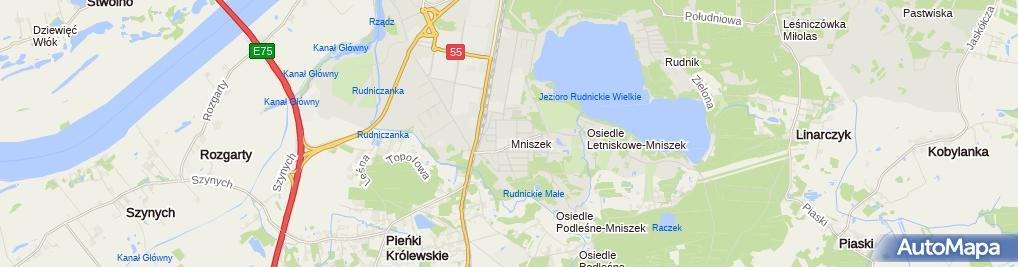 Zdjęcie satelitarne Kiosk Handlowy Szczęka Bożena Domkowska Bożena