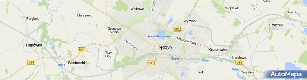 Zdjęcie satelitarne Kiosk Małgorzata Marcinkiewicz