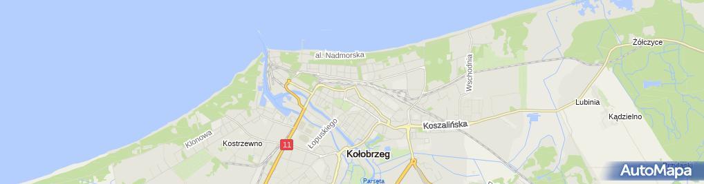 Zdjęcie satelitarne Kiosk Spożywczo Owocowy
