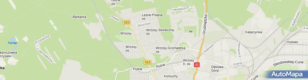 Zdjęcie satelitarne Kiosk Warzywny U Szwagrów Jabłoński Jarosław Janiszewski Maciej