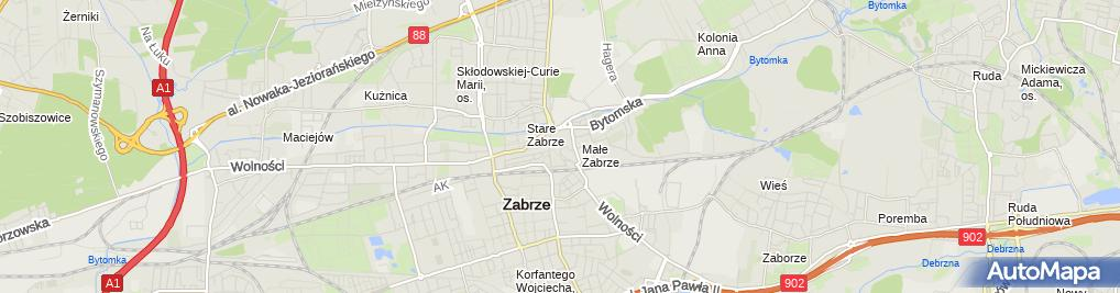 Zdjęcie satelitarne Kiosk Wielobranżowy Gastronomia Kuś