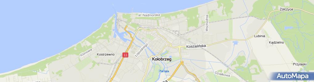 Zdjęcie satelitarne Kiosk Wielobranżowy