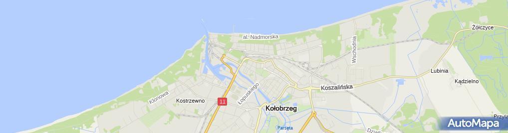 Zdjęcie satelitarne KKG Kołobrzeg Aneta i Stefania Andrzejewska