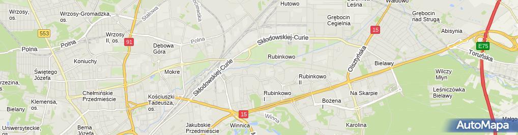 Zdjęcie satelitarne Klara Marianna Rożańska-Okrucińska