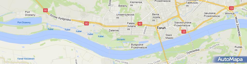 Zdjęcie satelitarne Kłos Marek Biuro Usług Kosztorysowo Budowlanych Proffi-Bud