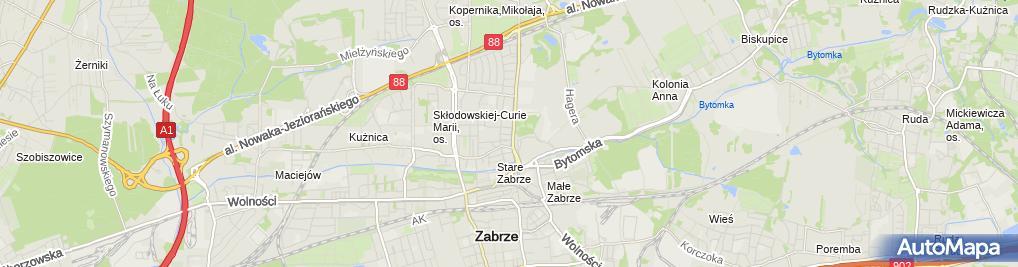 Zdjęcie satelitarne KLT Zygfryd Szygula Kornelia Szygula