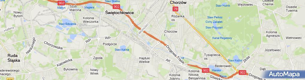 Zdjęcie satelitarne Klub Sportowy Ruch Chorzów
