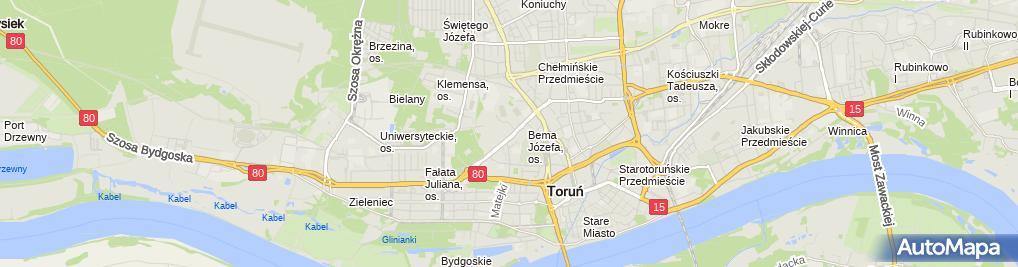 Zdjęcie satelitarne Klub Sportowy Toruń Hokejowa