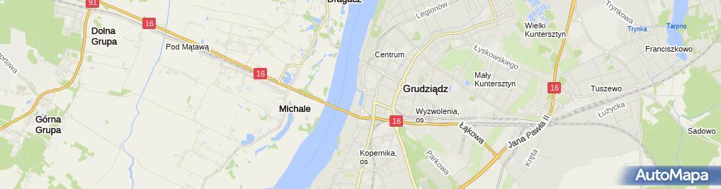 Zdjęcie satelitarne Klub Wioślarski Wisła w Grudziądzu