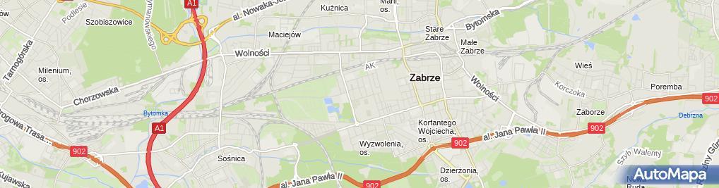 Zdjęcie satelitarne Klub Żeglarski Stal z Siedzibą w Zabrzu