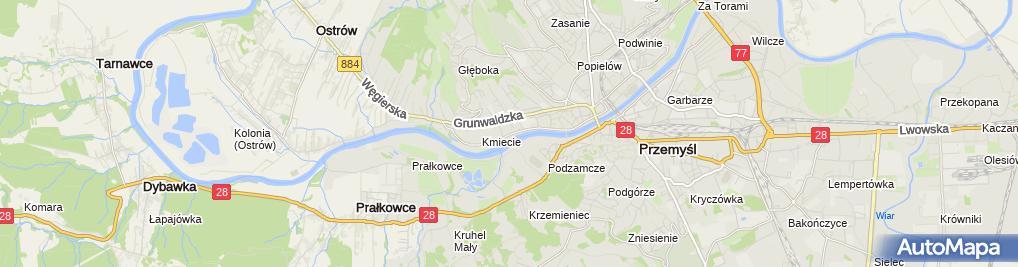 Zdjęcie satelitarne KNK Urszula i Andrzej Uziembło Biuro Projektów i Obsługi Inwestycji