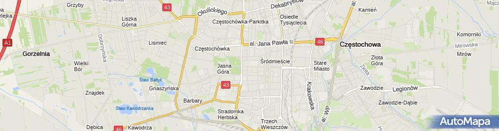 Zdjęcie satelitarne Kociomaczek Krystyna Nowak
