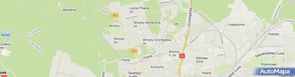 Zdjęcie satelitarne Kodrzycki Sławomir Zakład Instalacji Budowlanych