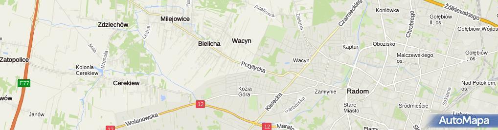 Zdjęcie satelitarne Koko Cafe Maciej Gołębiowski Tomasz Russ