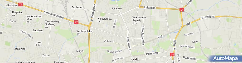 Zdjęcie satelitarne Kołomax