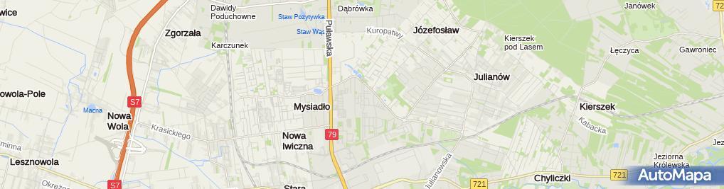 Zdjęcie satelitarne Kolunia