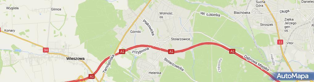 Zdjęcie satelitarne Kom 2 Biesiadecki Maurycy Chrzęstek Janusz