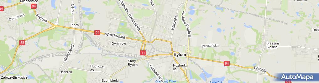Zdjęcie satelitarne Komenda Miejska Państwowej Straży Pożarnej w Bytomiu