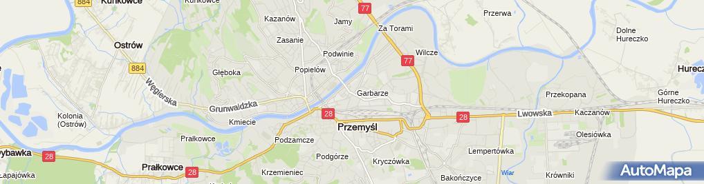 Zdjęcie satelitarne Komenda Miejska Państwowej Straży Pożarnej w Przemyślu