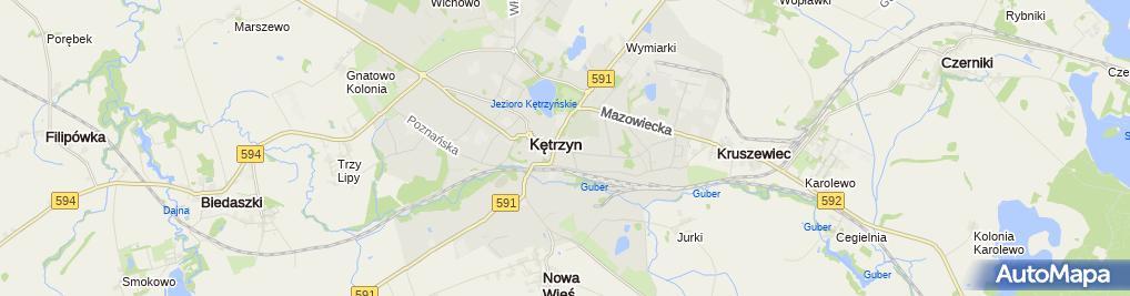 Zdjęcie satelitarne Komenda Powiatowa Państwowej Straży Pożarnej w Kętrzynie
