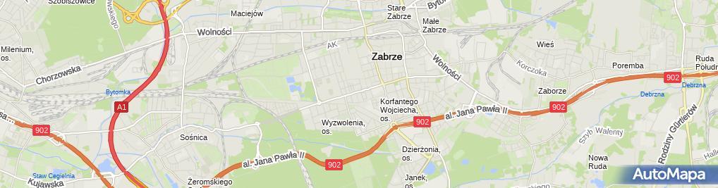 Zdjęcie satelitarne Komis Samochodowy Gorzpol Gorzkowski Tadeusz Lisiecka Agnieszka