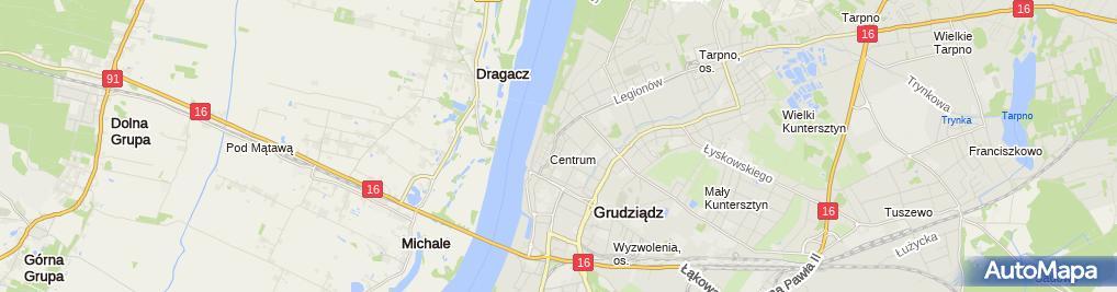 Zdjęcie satelitarne Komornik Sądowy przy Sądzie Rejonowym w Grudziądzu Alicja Sokołowska